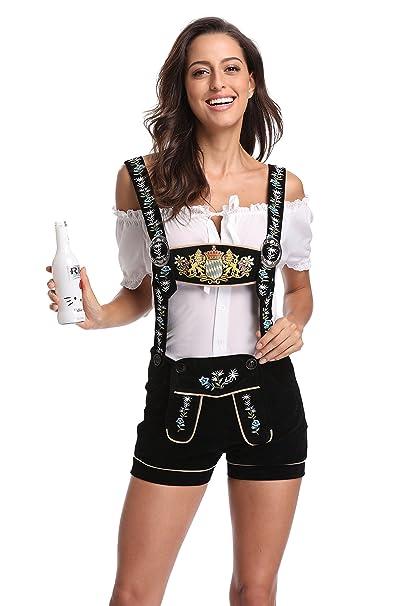 Amazon.com: Para mujer Oktoberfest Lederhosen cerveza chica ...