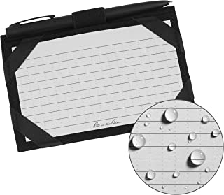 """product image for Rite In The Rain Weatherproof Index Card Kit: Black CORDURA Fabric Cover, 100 Gray 3"""" x 5"""" Index Cards, and an Weatherproof Pen (No. 991B-KIT)"""