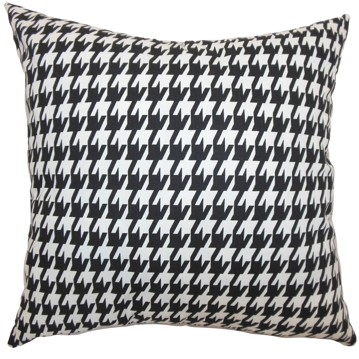 Amazon.com: The Pillow Collection Ceres Houndstooth Pillow, Black ...