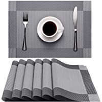 Placemats, Heat-Resistant Non-Slip Placemat Washable Easy to Clean Eco-friendly PVC Placemats for Home, Restaurant…