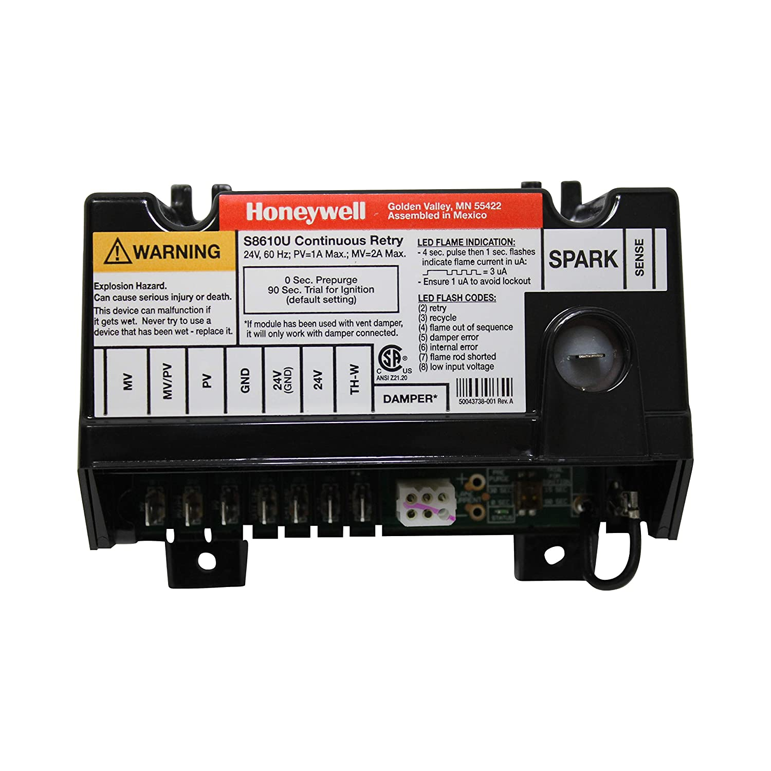 Honeywell S8610u3009 Furnace Intermittent Pilot Control For Electronic Ignition Wiring Diagram Ih Replacement Household Ignitors
