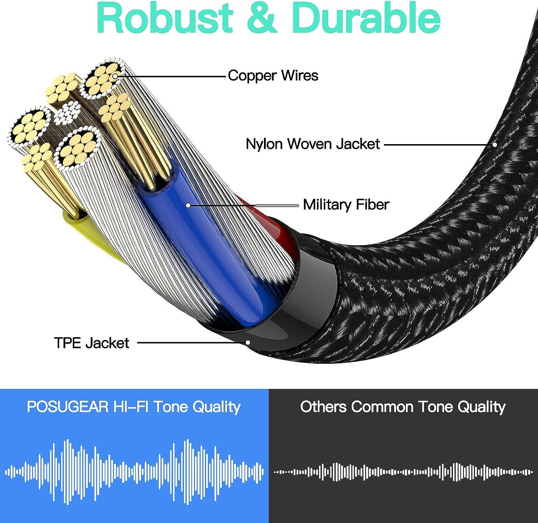 Lautsprecher oder 4 Pole TRRS Mikrofon POSUGEAR Klinke auf USB Externe Soundkarte f/ür f/ür Headset USB Klinke Adapter USB auf Klinke 3,5mm mit Mikrofon Adapter TRRS 4-polig