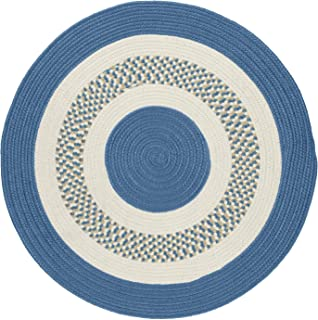 product image for Flowers Bay Round Area Rug, 4-Feet, Blue