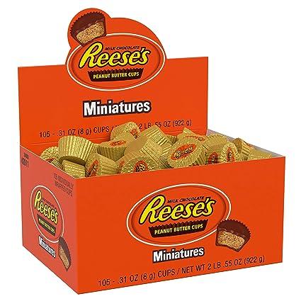 Reese/'s Milk Chocolate Peanut Butter Cups Miniature Candy Bulk Bag 2 Pounds
