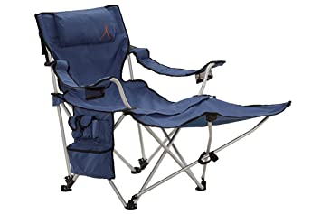 GRAND CANYON Giga   Folding Camping Chair With Footrest, Aluminium,  Blue/black,