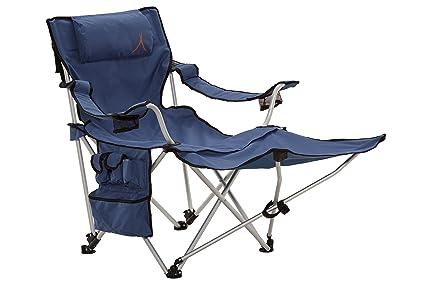 Grand Canyon Giga - Silla de Camping Plegable con apoyapiés, Aluminio