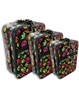 Enimay Women's 3pc Set Roller Luggage Travel Suitcase Bag (Colors Available)