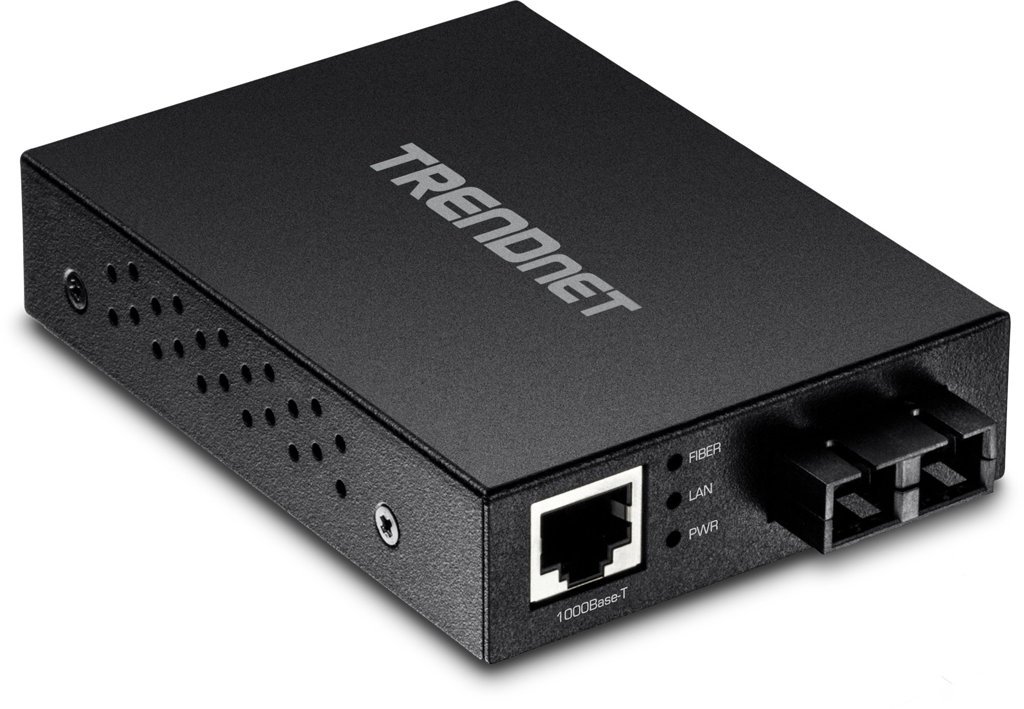 TRENDnet 1000Base-T to 1000Base-SX Multi-Mode SC Fiber Converter, Up to 550m (1800 ft.), 2 Gbps Switching Capacity, TFC-GMSC