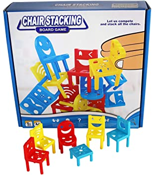 Genial Chair Stacking Board Game   36 Plastic Mini Chairs Most Popular Balance Game  For Kids