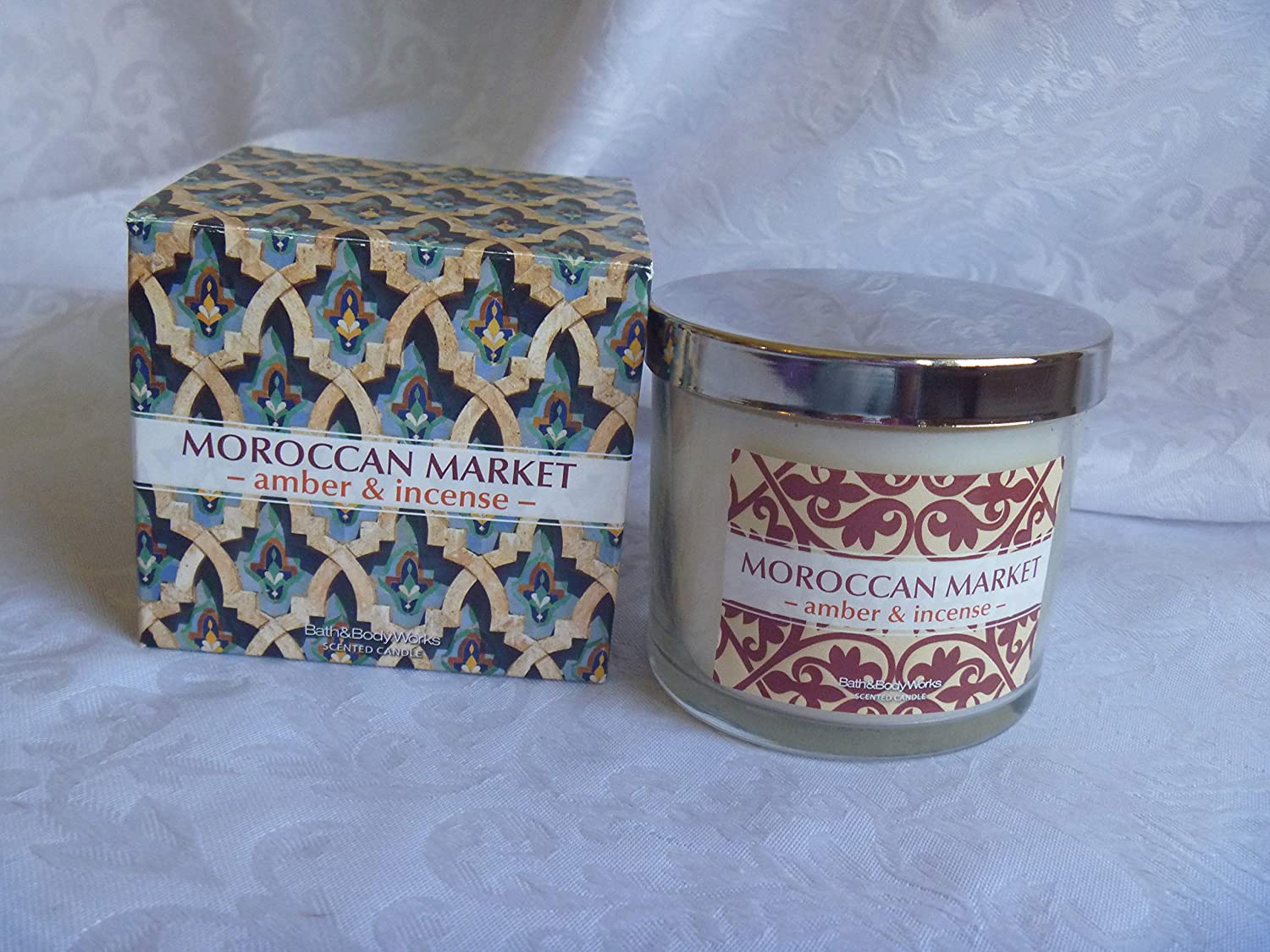 Bath Body Works Moroccan Market Candle Amber & Incense 4 oz 1 Wick in Box