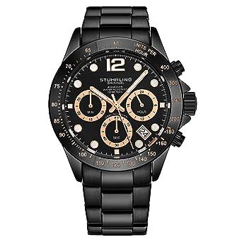 f835cacbaf Stührling Original - Montre chronographe pour Homme, Bracelet en Acier  Inoxydable avec Couronne vissée et