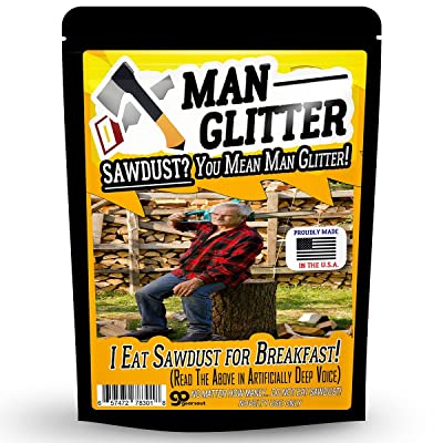 Gears Out Man Glitter Sawdust - Funny Gag Gift for Men - Proudly Made in America: Toys & Games