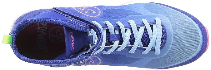 Amazon.com   Zumba Womens Flex II High Top Shoes Blue/Pink Size 7 M US   Ballet & Dance