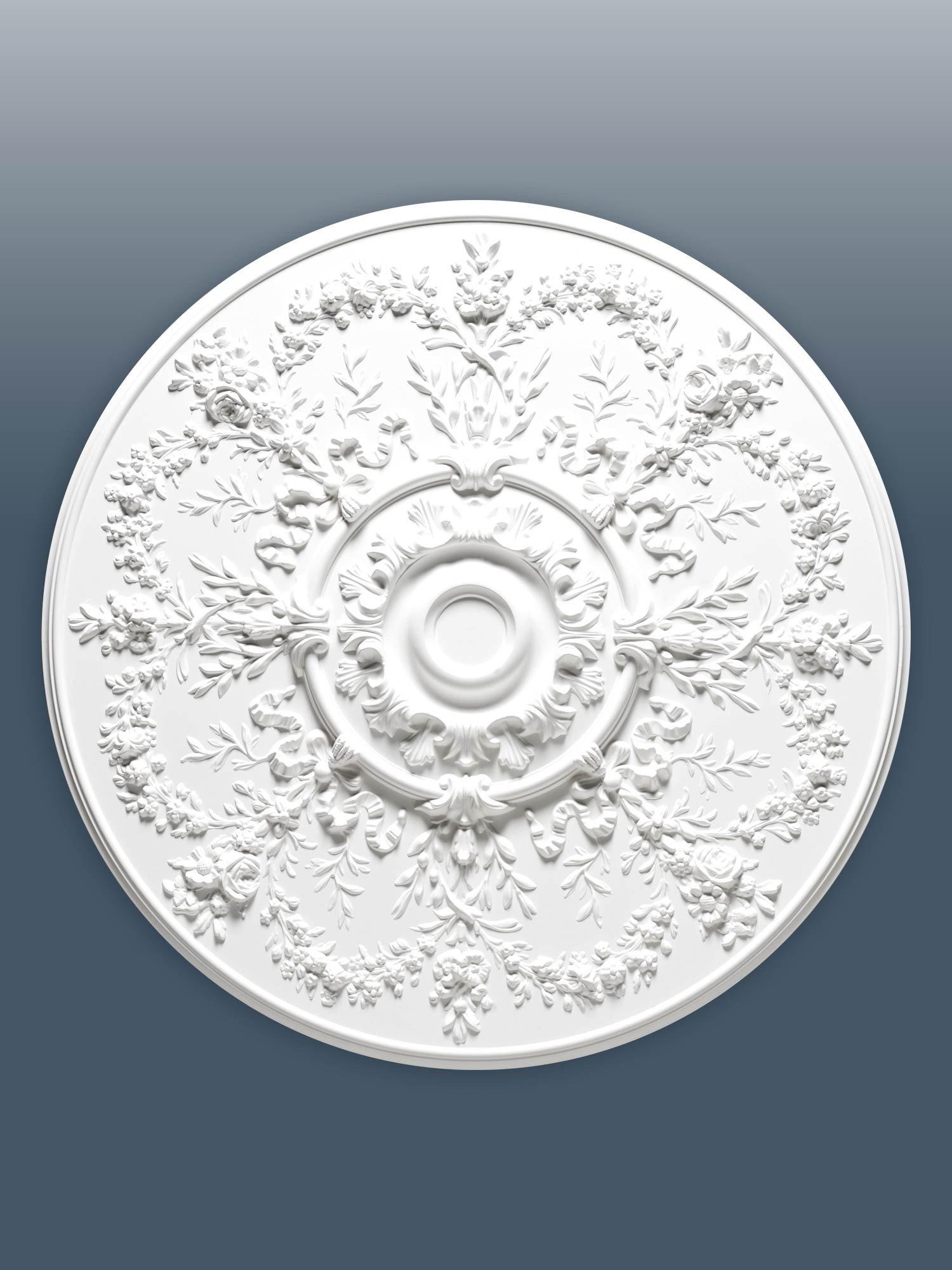 ORAC R64 Ceiling Rose Rosette Medallion Centre quality polyurethane decorative flower white | 95 cm = 37 inch diameter