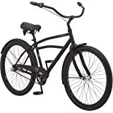 Schwinn Huron and Mikko Adult Beach Cruiser Bike, Featuring 17-Inch/Medium Steel Step-Over Frames, 1-3-7-Speed Drivetrains