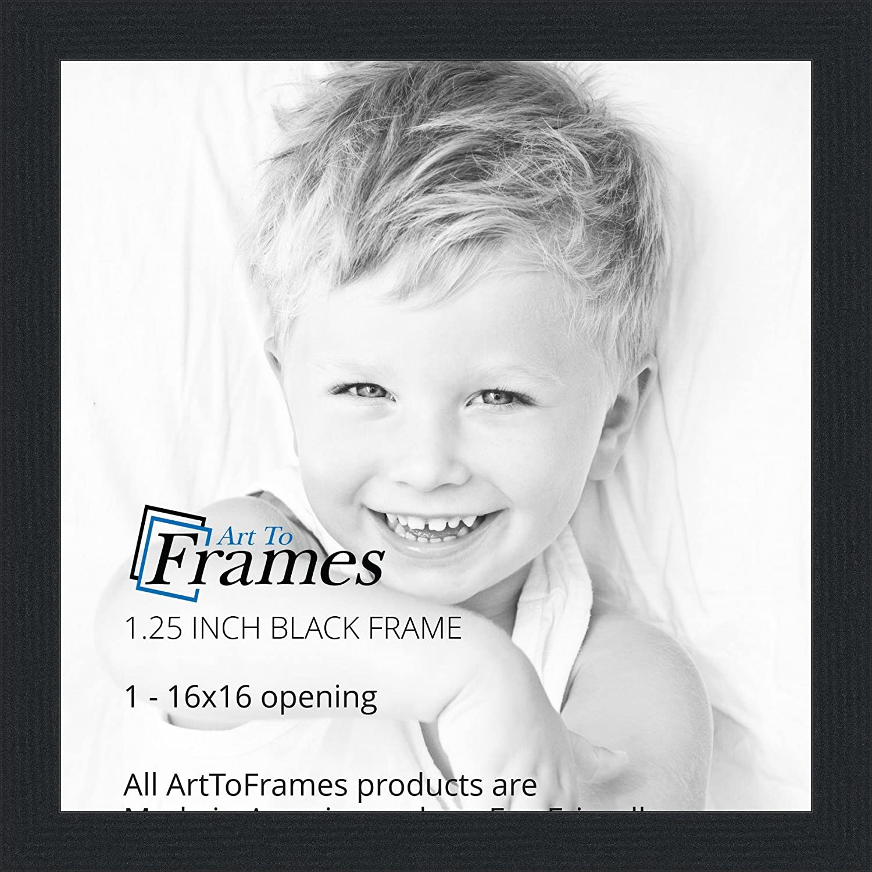 Amazon.com - ArtToFrames 16x16 inch Black Picture Frame ...