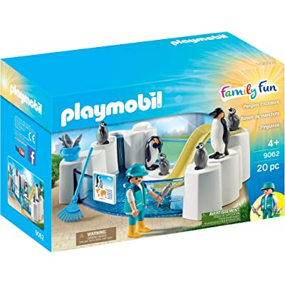 PLAYMOBIL Penguin Enclosure Building Set: Playmobil: Toys & Games