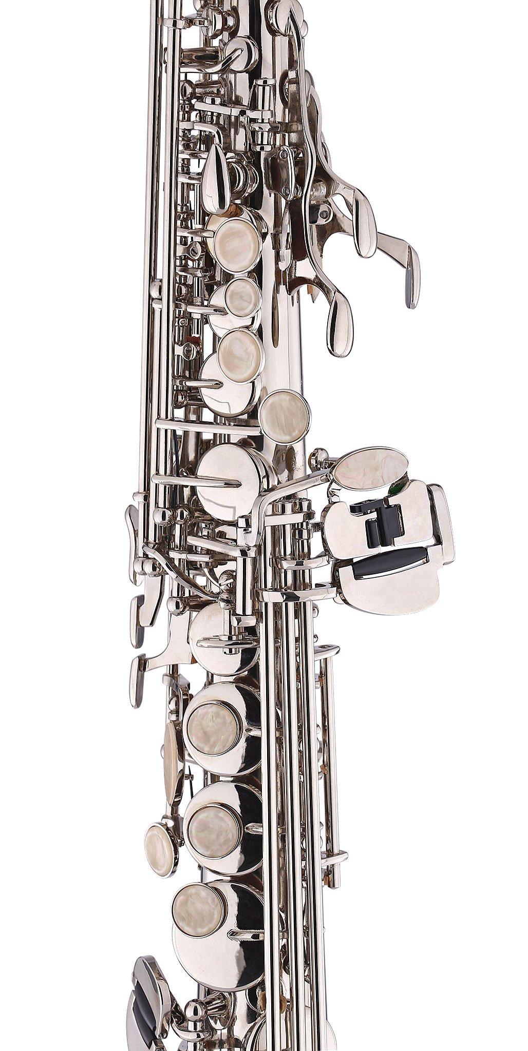 Kaizer Soprano Saxophone Straight B Flat Bb Nickel Silver SSAX-1000NK by Kaizer (Image #3)