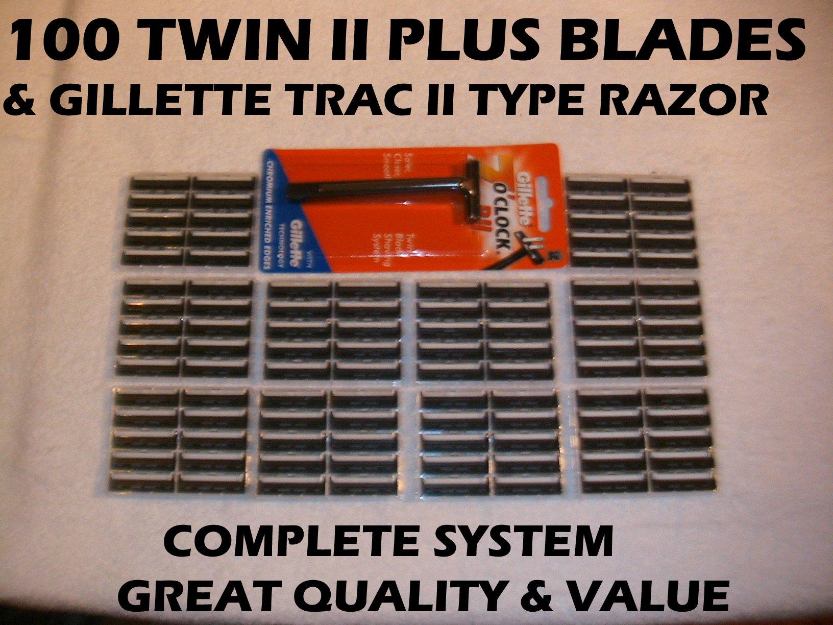 Personna Women's Gentle Touch 100 Twin II Plus Blades & Fixed Head Razor