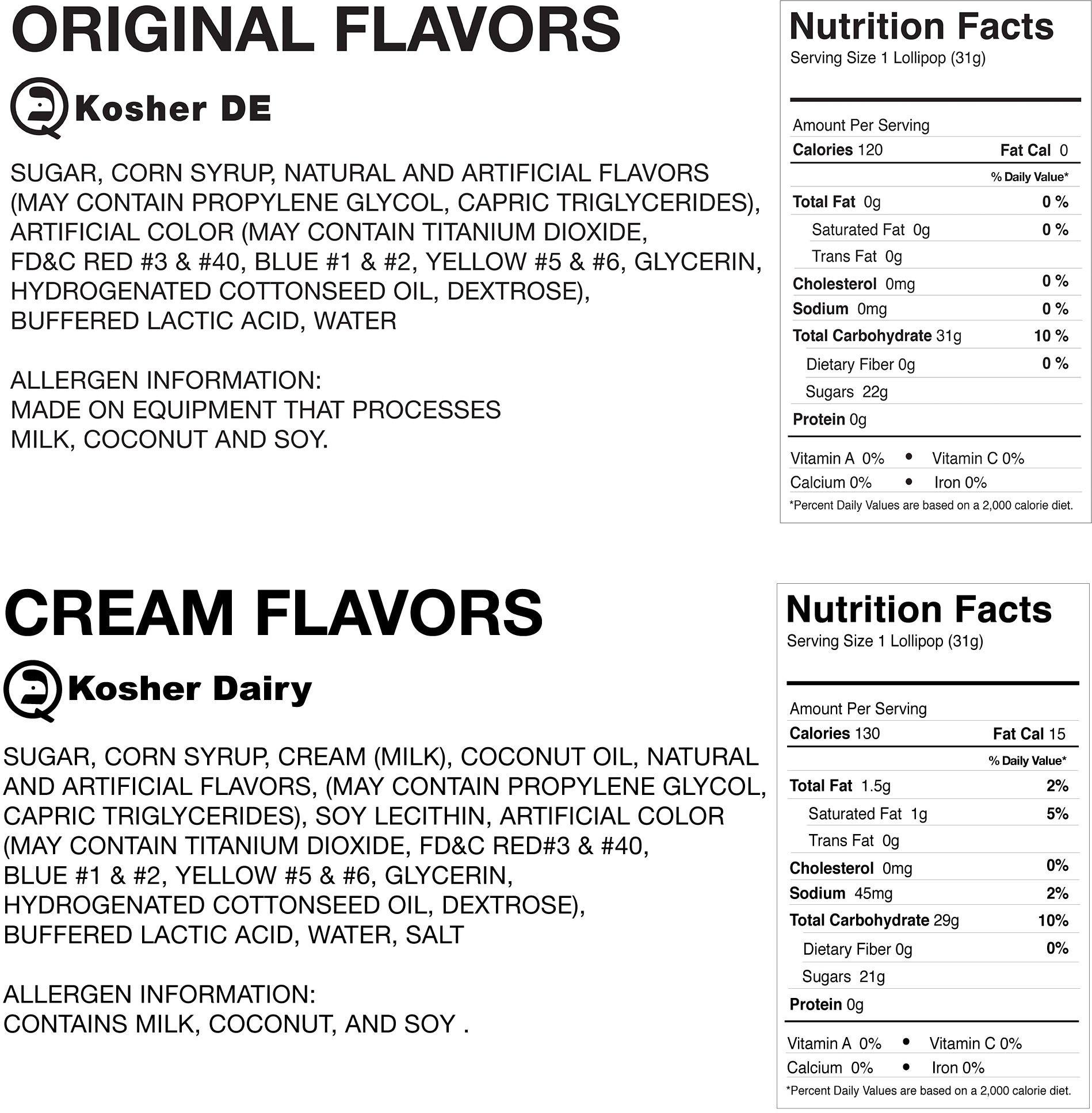 Original Gourmet Lollipops, Original and Cream Swirl Medley, 60 Count by Original Gourmet (Image #2)