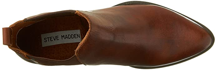 6634a5516d4e Steve Madden Womens Pistol Leather Almond Toe Ankle Boots Brown 8 Medium  (B, M): Amazon.co.uk: Shoes & Bags