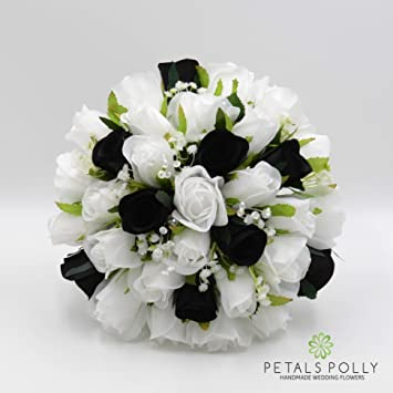 Kunstliche Petals Polly Flowers Brautstrauss Handgemacht Weiss