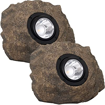 Westinghouse Solar Rock Lights - Adjustable Beam 20 Lumens LED Spot Light, 2 Pack : Garden & Outdoor