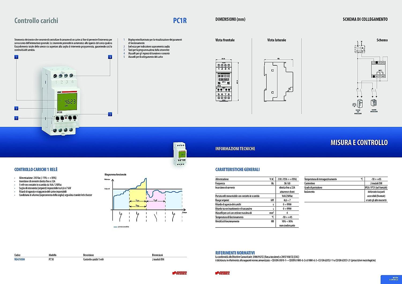 Vemer ve475000/Palanca Control Cargas pc1r con rel/é Color Blanco