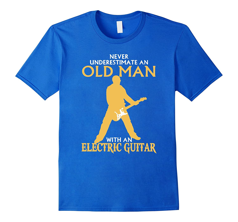 Guitar T-shirt : Old Man With An Electric Guitar-Art