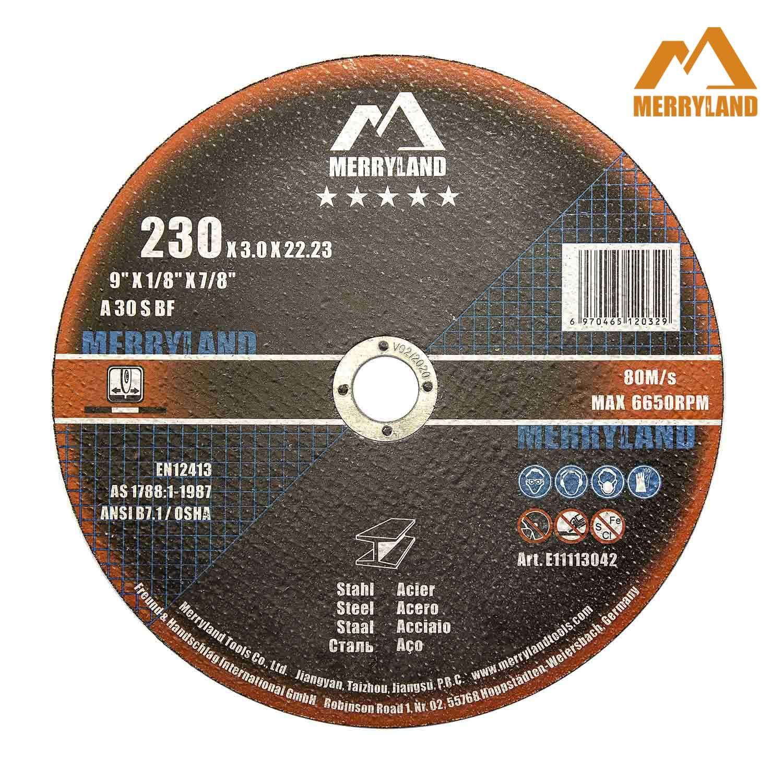 Merryland 9 X 1/8 Expert-line Cut Off Wheel Steel Metal Iron 25PCS
