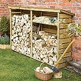Large Wooden Log Store for Firewood Log Storage