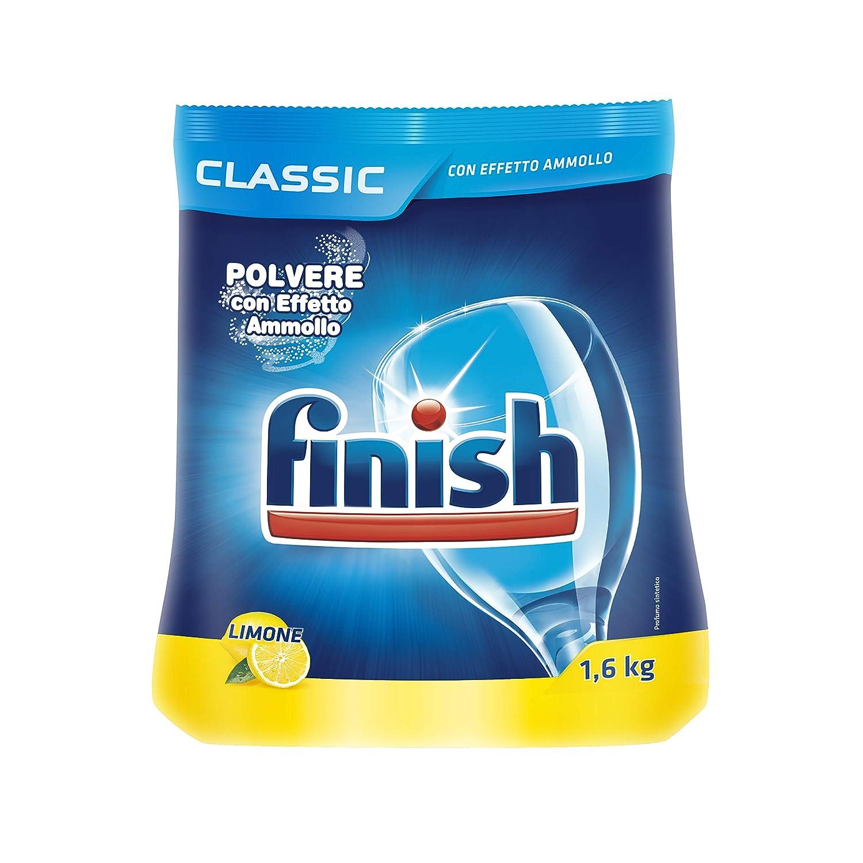 Finish - Classic limón - Detergente en polvo para lavavajillas ...