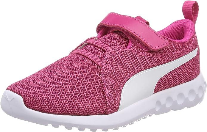 Puma Carson 2 V PS Sneakers Jungen Mädchen Unisex Kinder Rosa (Fuchsia Purple)