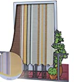 Coppia tende da sole per esterno in tessuto multirighe con anelli per balcone, terrazzo, casa - Cm 150x250 - Marrone