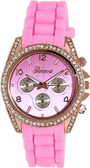 Geneva Platinum 1557.ROSEGOLD.PINK Mujeres Relojes