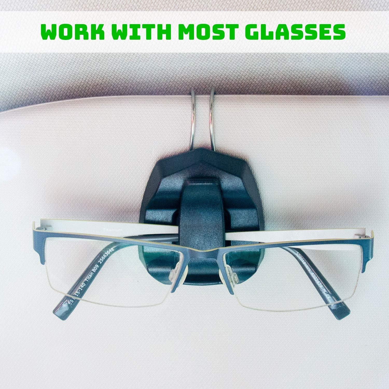 Car Vehicle Sun Visor Sunglasses Eyeglasses Glasses Ticket Holder Clip M/&R