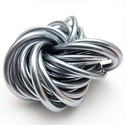 Möbii Daydream Mercury Silver: X-Large Mobius Fidget Ball Toy, Stress Ball for Restless Hands