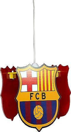 Lámpara Escuadra Fútbol Barcelona para dormitorio niño techo ...