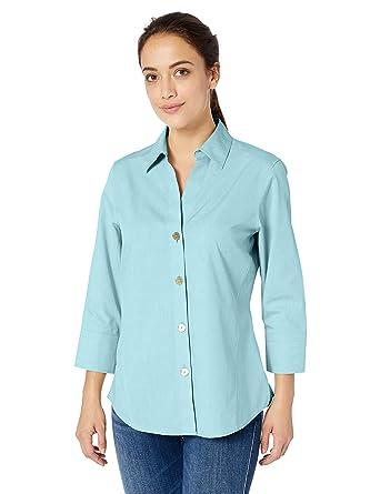 9e680c296caabc Foxcroft Women's Non-Iron Essential Paigely Shirt at Amazon Women's ...