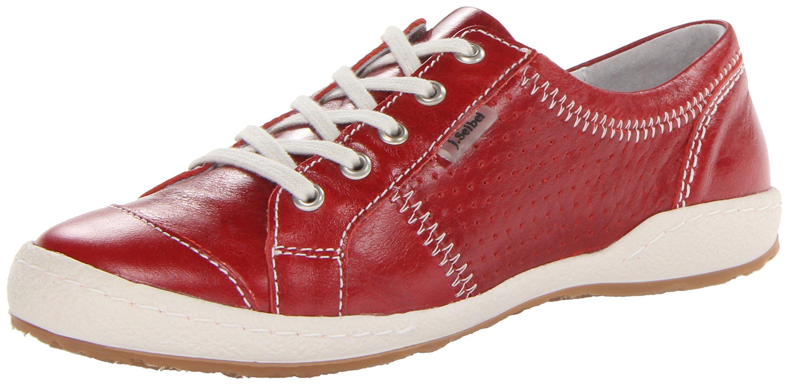 Josef Seibel Women's Caspian Fashion Sneaker, Red, 39 EU/8-8.5 M US