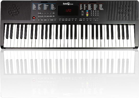 RockJam 61 tecla del teclado de piano con el soporte de la ...