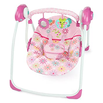 125158ea3 Amazon.com   Bright Starts Butterfly Dreams Portable Swing   Baby