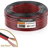Câble de haut-parleur MANAX® 2 x 0,75 mm² rouge / noir 10,0 m