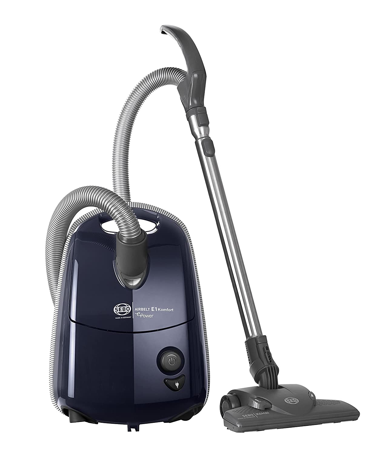 SEBO 92624GB E1 Komfort ePower Airbelt Vacuum Cleaner, 890 W, Dark Blue [Energy Class C]