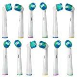 12 x Replacement Toothbrush Heads for Oral B - Round Head for Hard to Reach Area