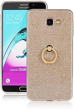 pinlu® Funda para Samsung Galaxy A9 / A9 Pro Anti-Arañazos Función Flash Brillante Suave TPU Silicona Case Ultra Delgada Hebilla del Anillo Soporte Diseño Gold: Amazon.es: Electrónica