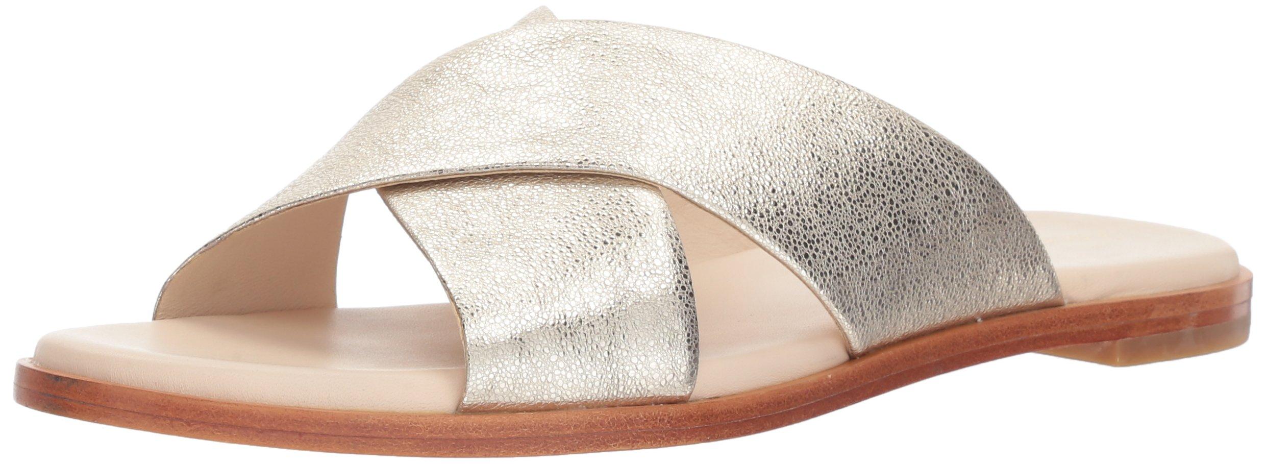 Cole Haan Women's Anica Criss Cross Sandal, Silver Glitter, 9.5 B US