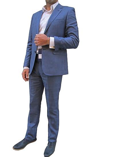 Abito completo uomo Principe di Galles Blu (58)  Amazon.it  Abbigliamento 48e86cd4616