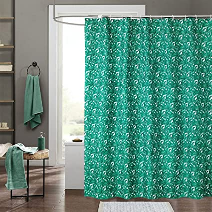 Eforgift Green Leaves Printed Shower Curtains Mildew Proof Waterproof Stain Resistant Shabby Chic Home
