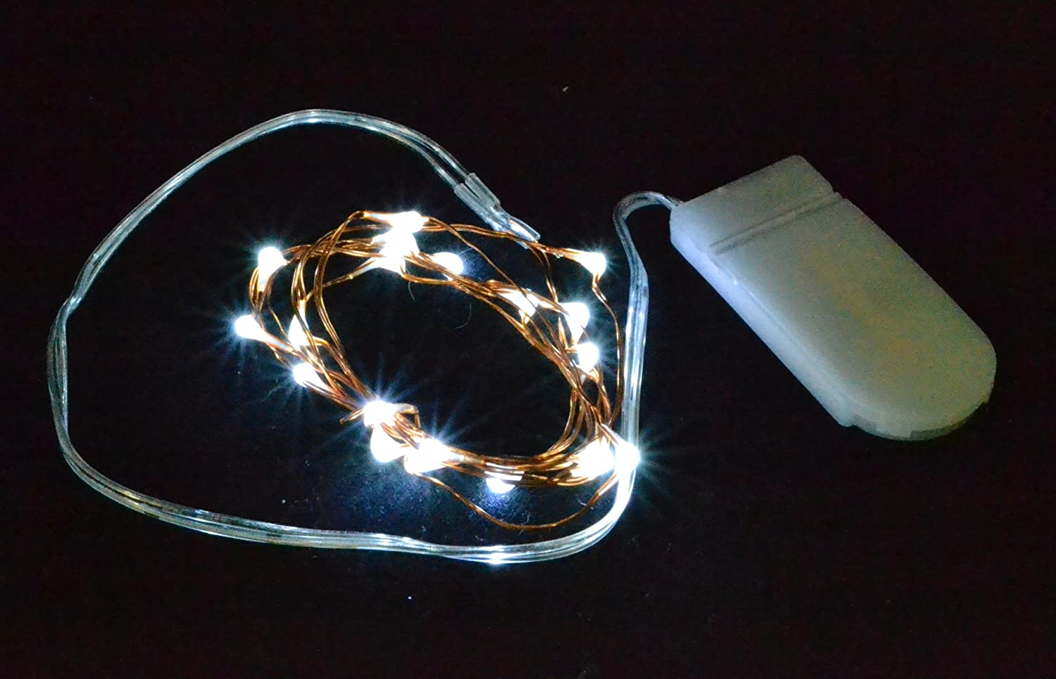 2 Sets Of 20 Micro Led 1m String Fairy Rice Lights Battery Ac Wiring Diagram Christmas Powered Pure